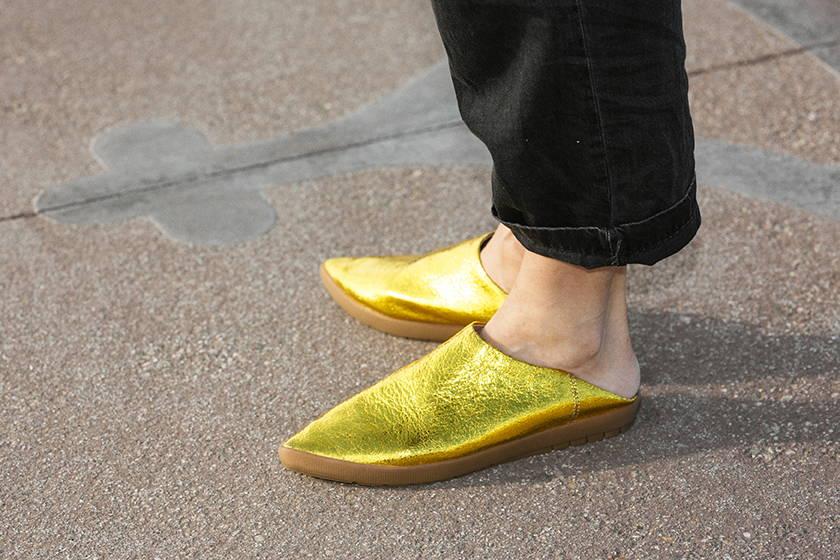 Vision Quest gold metallic shoes