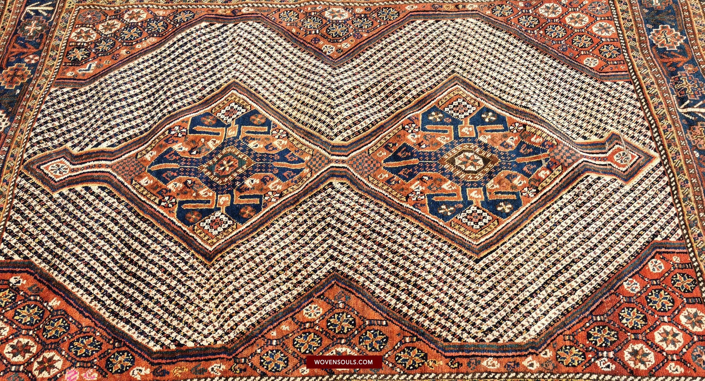 antique rug handwoven persian qashqai art gallery home decor