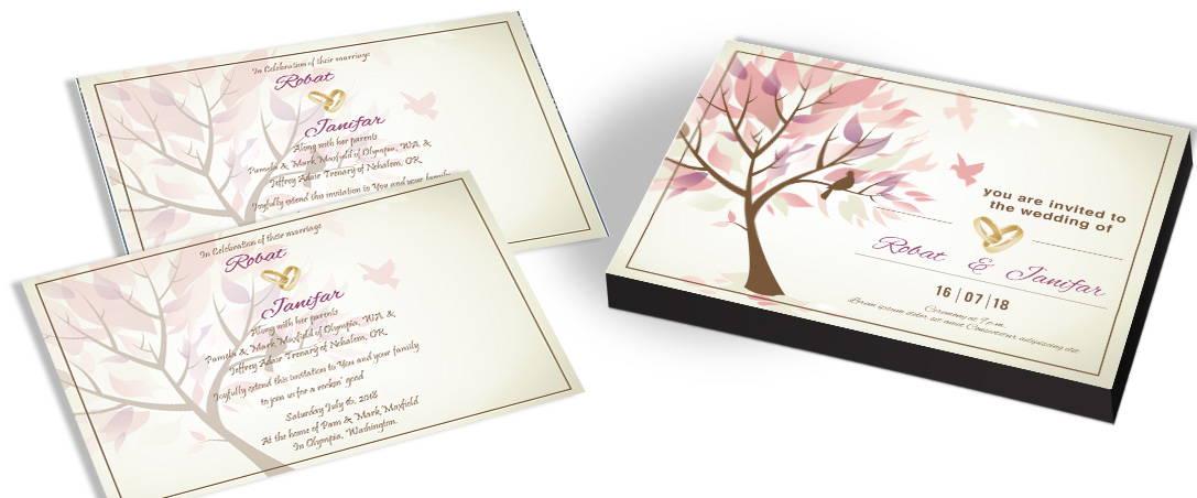 Customised Tree Wedding Invitations