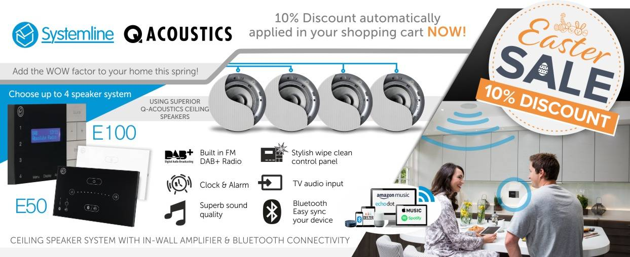 Q Acoustics 10% Discount at Audio Volt in the month of April