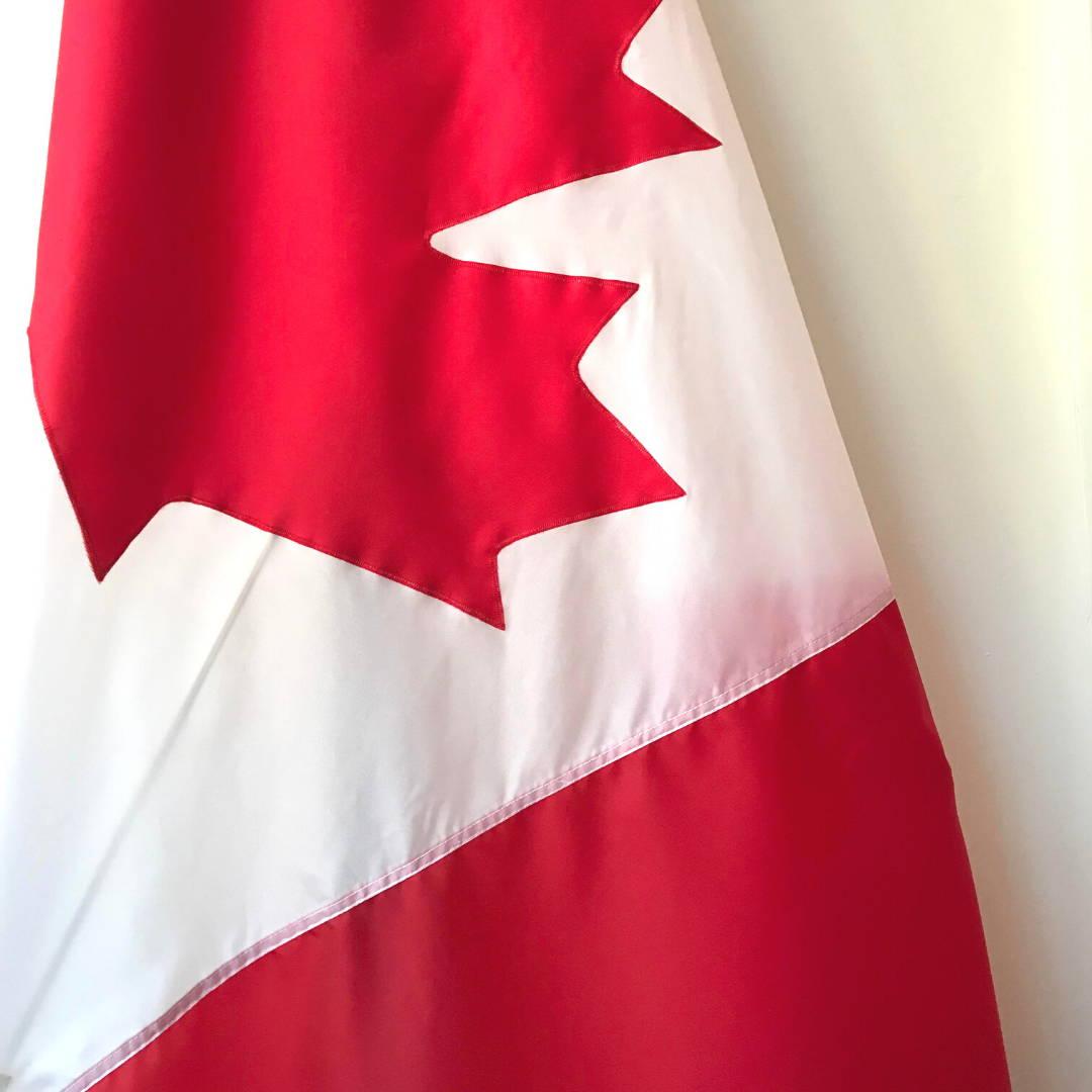 appliqué Canada flag at Canadiana Flag made in Canada