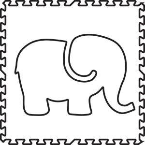SoftTiles Elephant Foam Play Mat Shape
