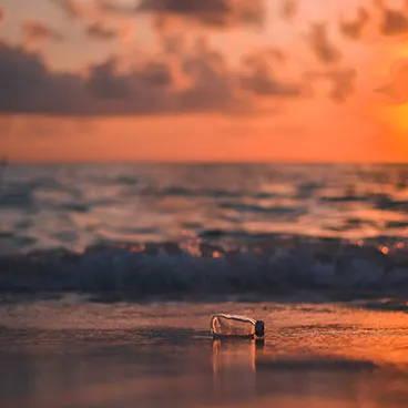 Bottle on the shore