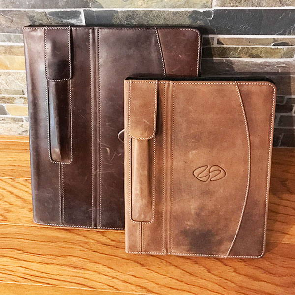 Mac Case leather ipad pro 9.7 and 12.9 cases in worn vintage brown