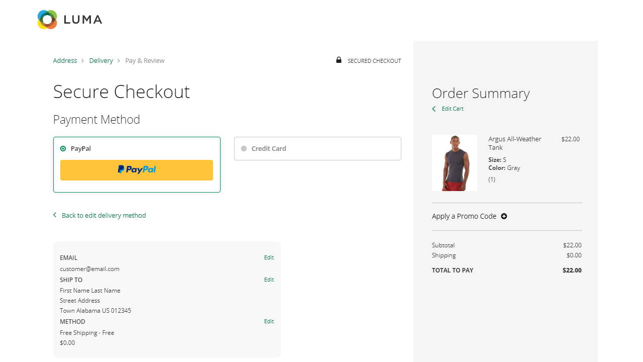 One-Page Checkout for Magento, Shopify, BigCommerce and WooCommerce
