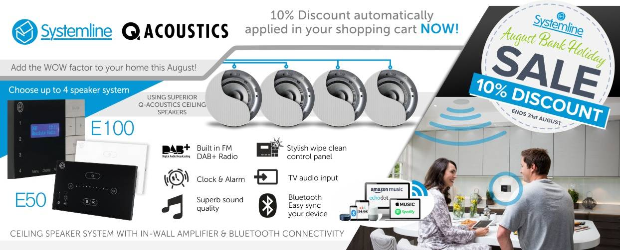 Systemline 10% Discount at Audio Volt in the month of August