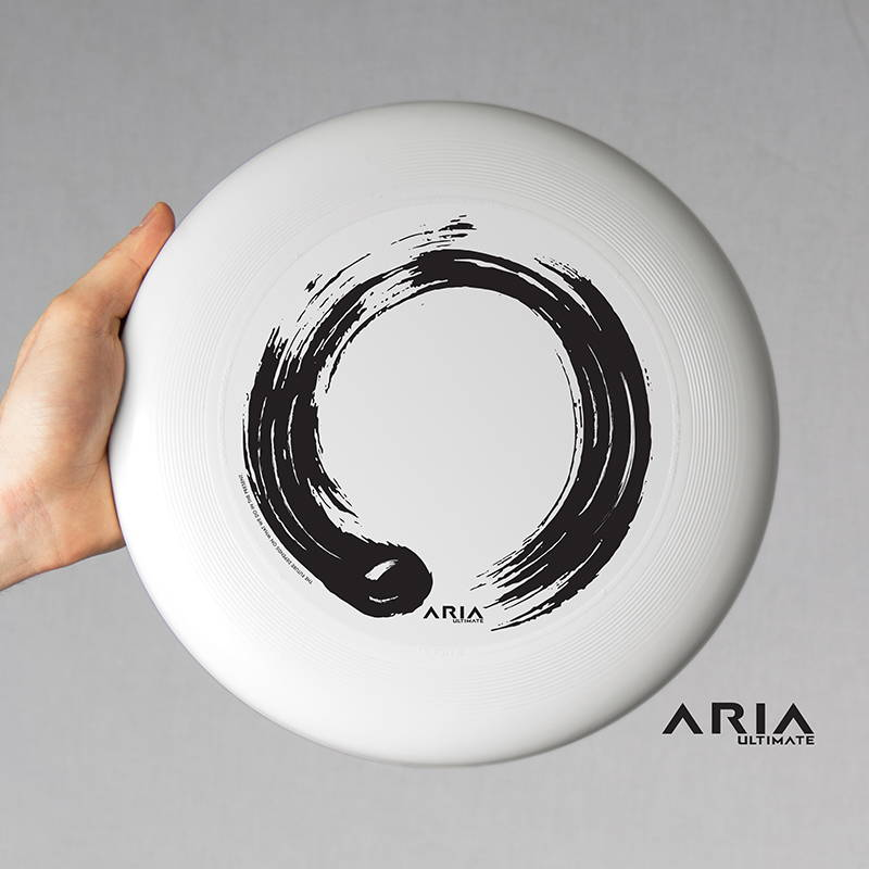ARIA professional official ultimate flying disc for the sport commonly known as 'ultimate frisbee' circle design