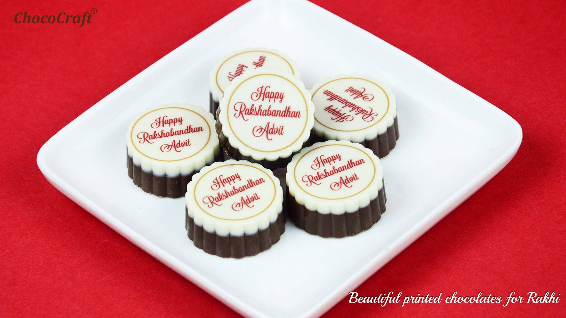 Printed chocolates for Rakshabandhan
