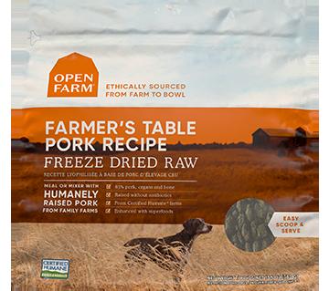 Farmer's Table Pork Freeze Dried Raw Dog Food