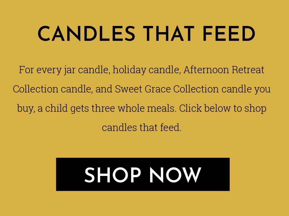 Kaarsen die voeden