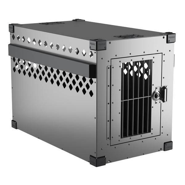 Stationary Impact Dog Crate gray size large 400