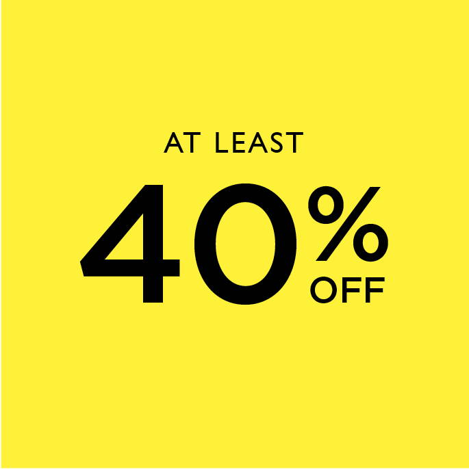 At least 40% off sale