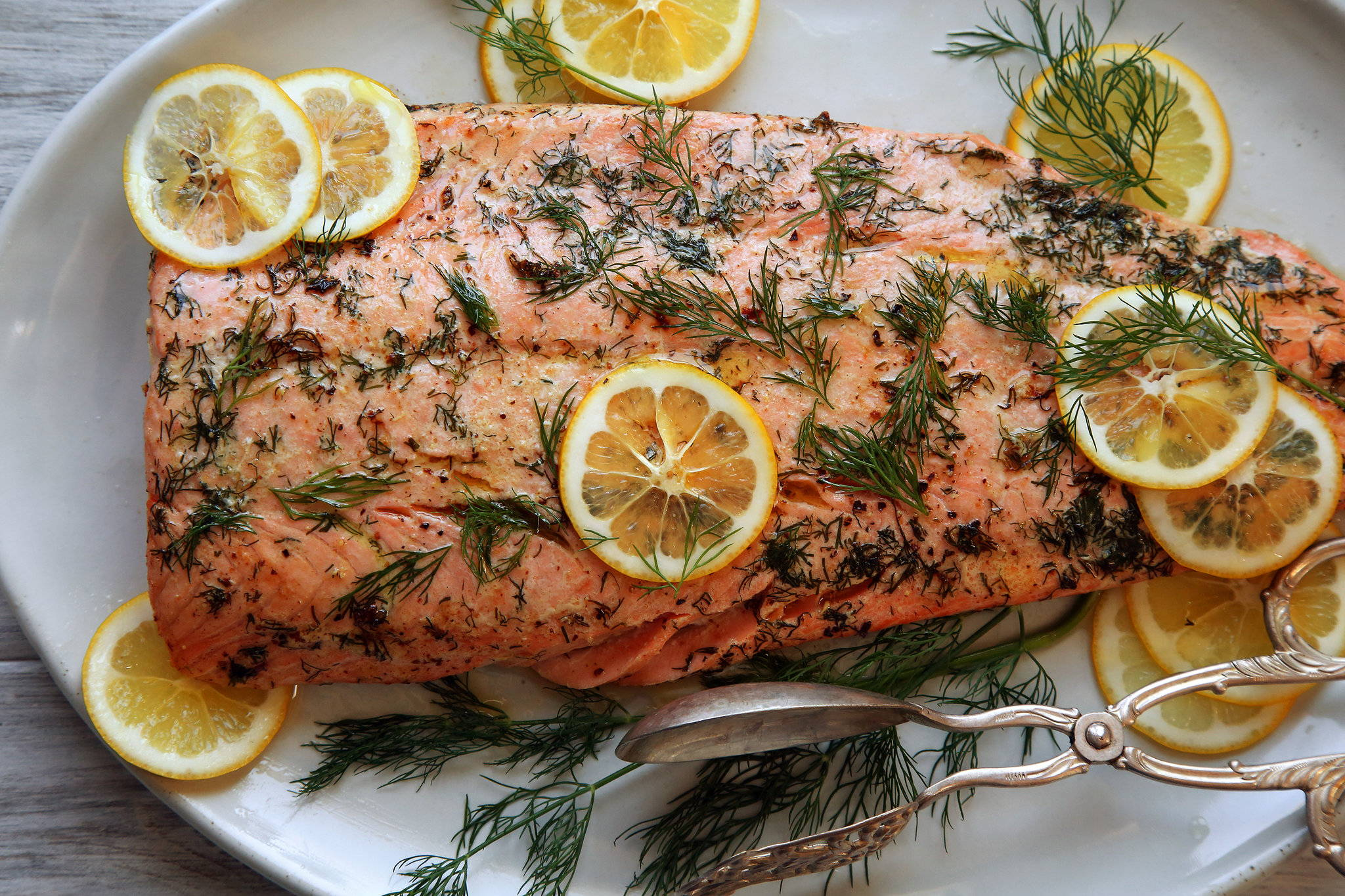 Herb Butter Roasted Salmon Recipe