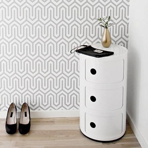 Kartell Storage: Componibili Round Tower Storage in White
