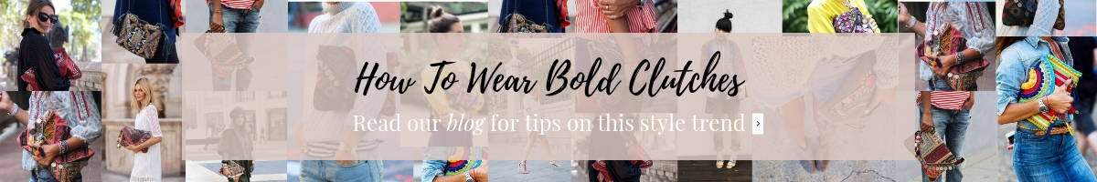 How to Wear Bold Clutches