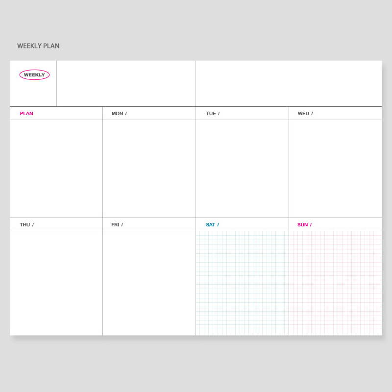 Weekly plan - Wanna This Clear and decoration dateless weekly planner