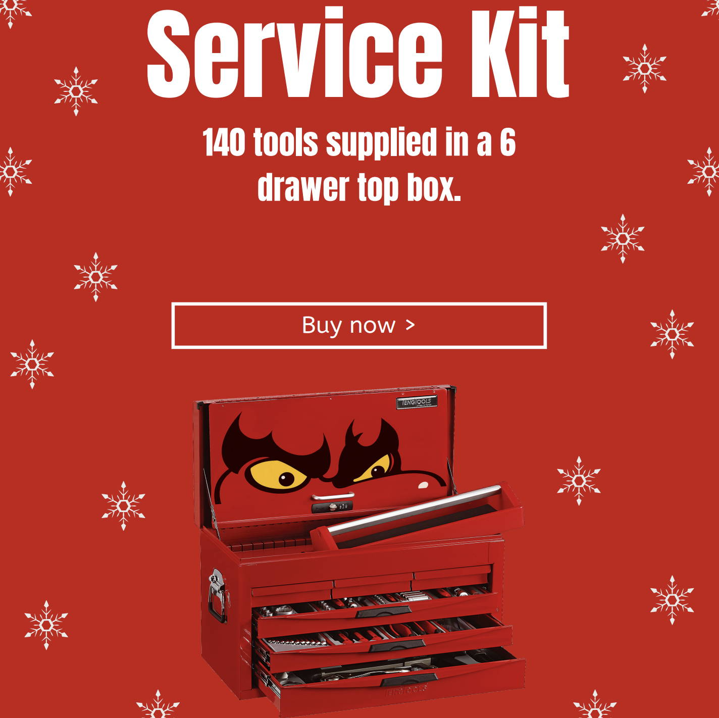 Service Kit. 140 tools supplied in a 6 drawer top box.