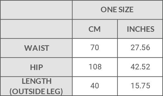 Filanda n.18 Ferghana Shorts Size Guide