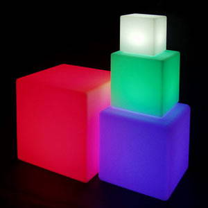 Color Changing Light Cubes & Orbs