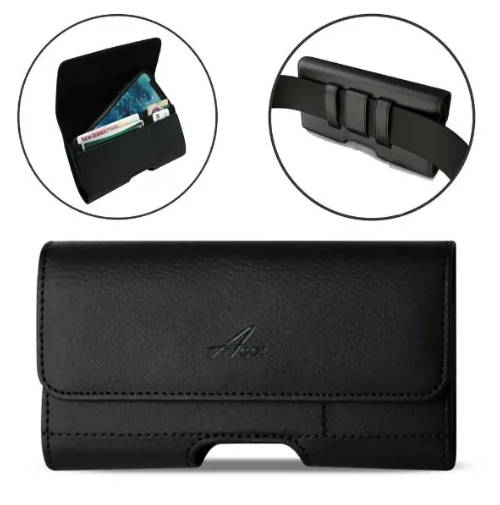 LG Q70 Leather Case with Card Holder