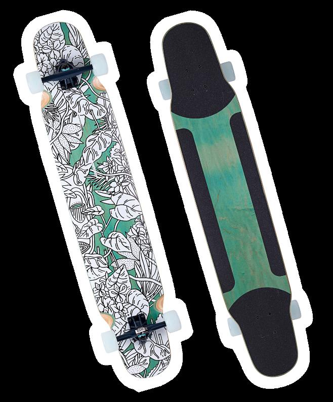 ダンシング・フリースタイル ロングボード Long Skateboard Dance 100
