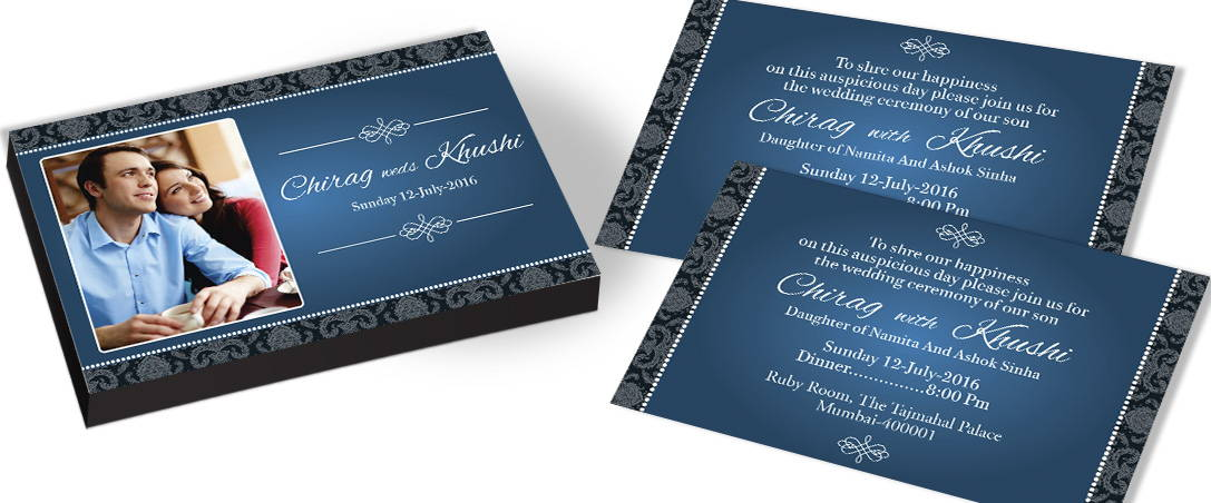 Couple Picture Invitation for Indian Wedding