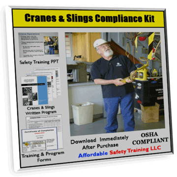 Cranes and Slings Safety Training Compliance Kit