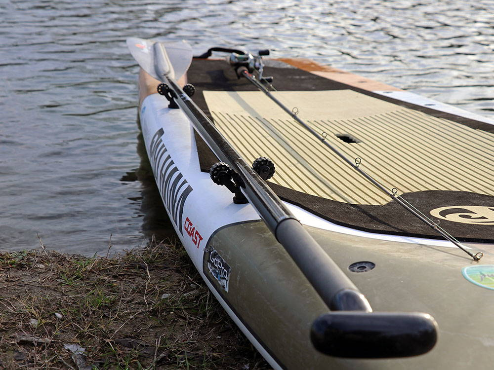 the endurance board and fishing rod