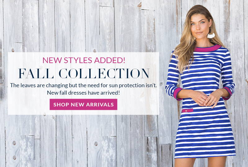 New styles added to our Fall Collection. Shop our latest UPF 50+ dresses now.