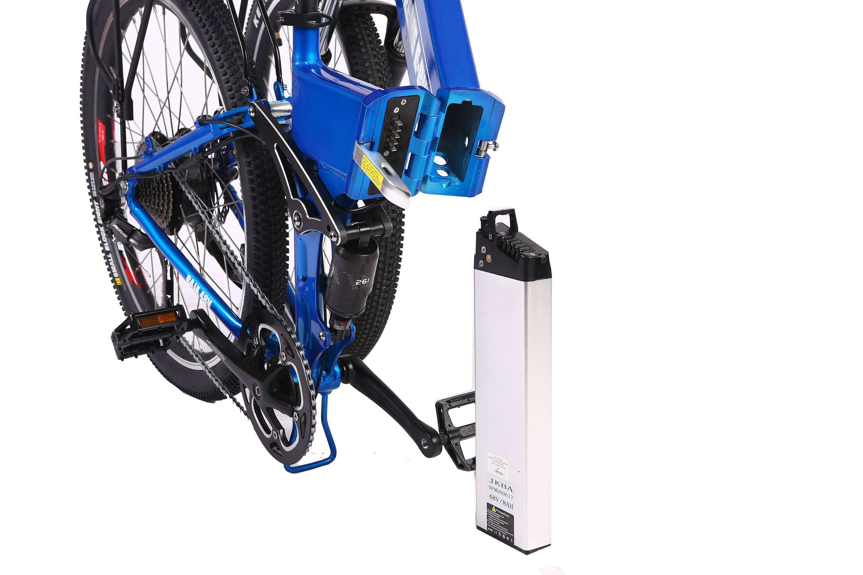 Baja electric bike battery placement