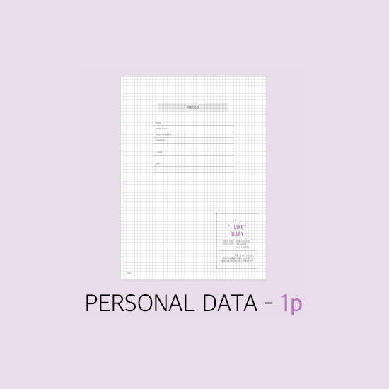 Personal data - Rihoon 2020 I like weekly dated grid diary planner