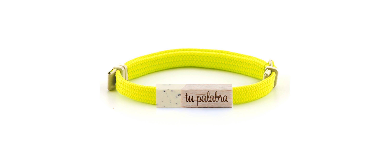 pulsera personalizada classic fluor vainilla