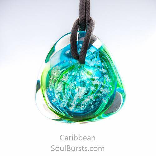 Glass Cremation Necklace