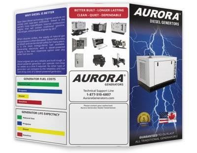 Aurora Generators Trifold Brochure