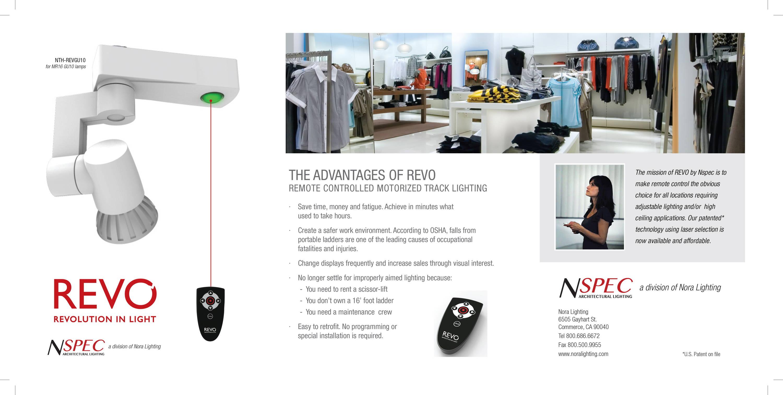 Nora REVO remote lighting