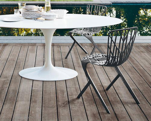 Attirant Knoll Skeleton™ Outdoor Side Chair