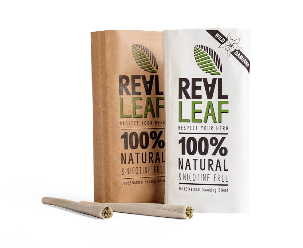 Herbal smoking blend infused with cannabis terpenes — RealLeaf