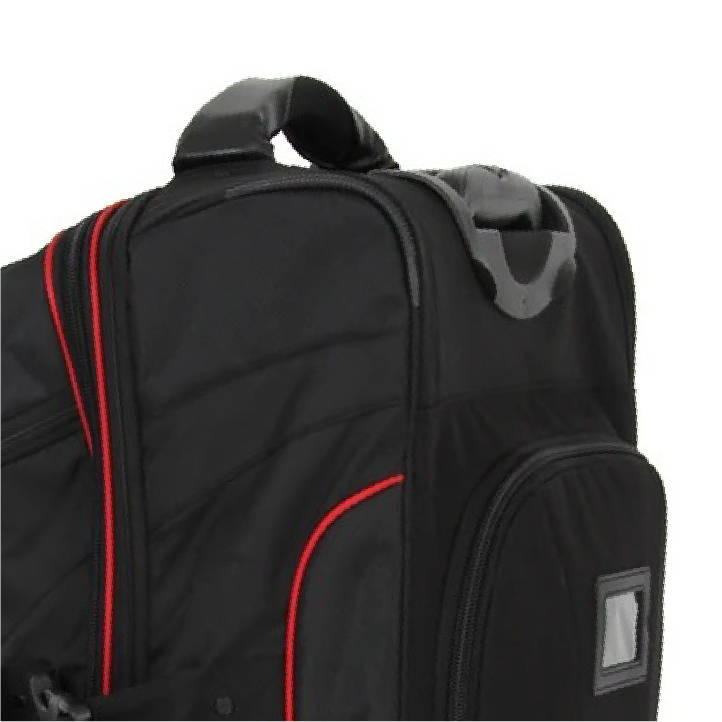 retractable handle world karate federation travel bag