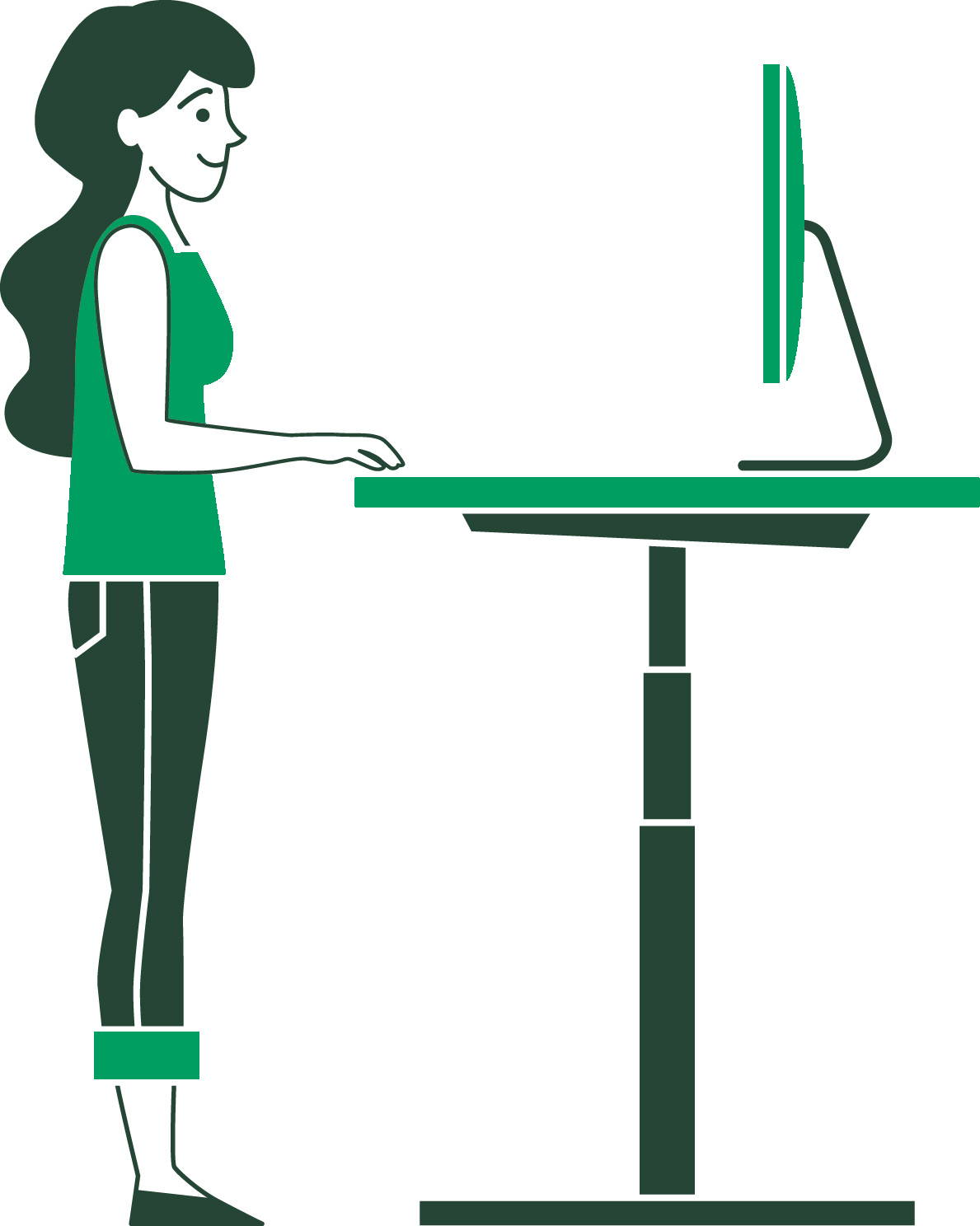 Standing desk - posture - ergonofis