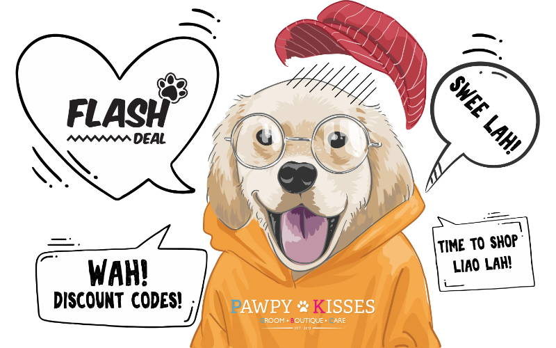 Pawpy Kisses Flash Paws Deal additional discount codes and free delivery mobile banner.