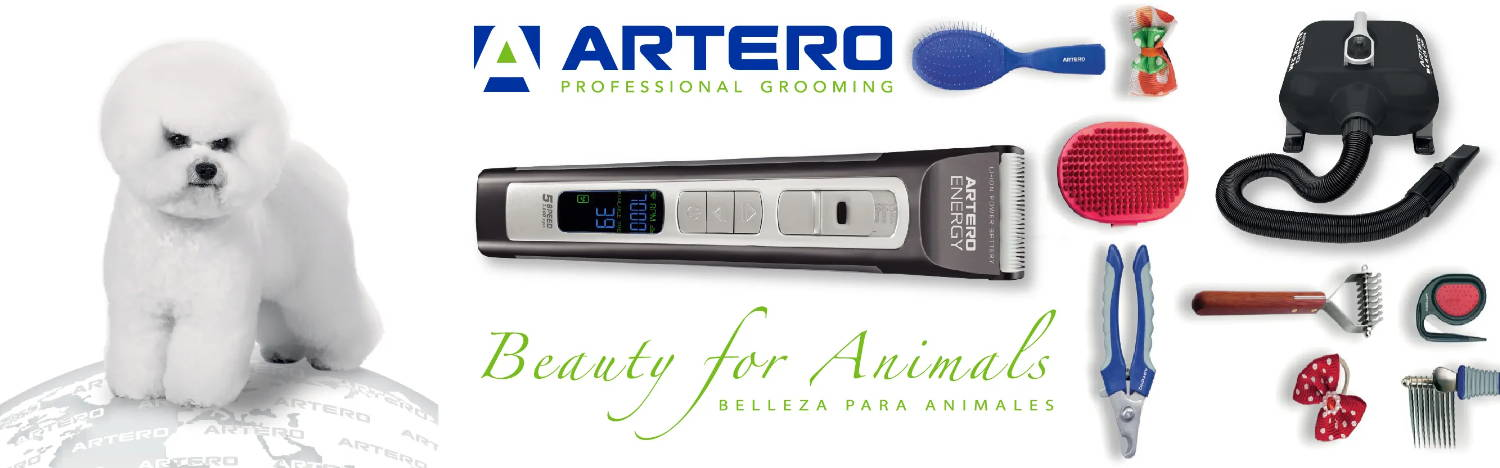 ARTERO professional grooming tools, equipment & cosmetic banner