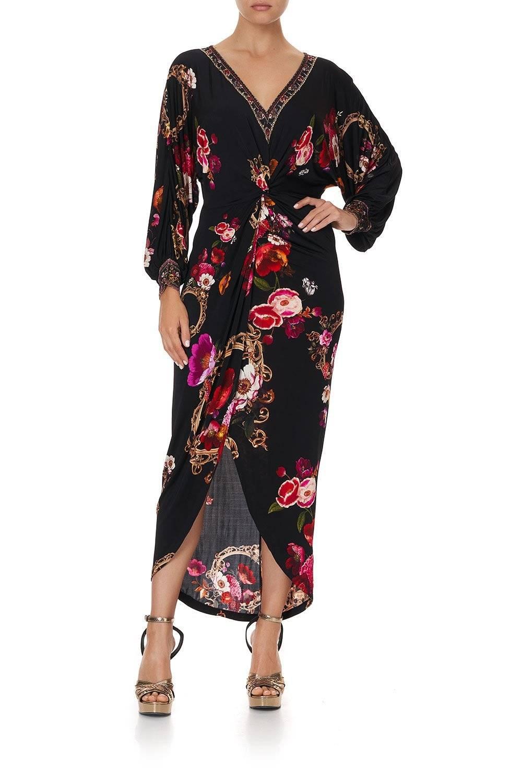 MIRROR MIRROR TWIST FRONT DRESS