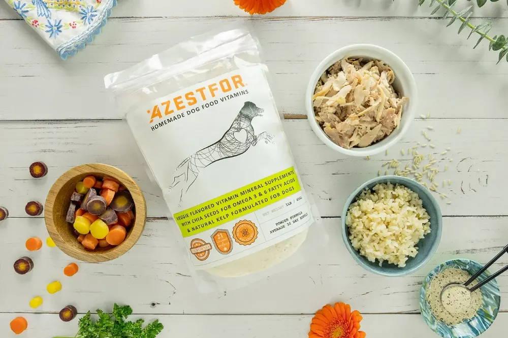 Healthy homemade dog food ingredients