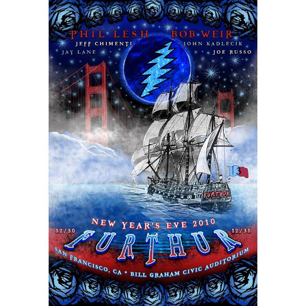 Taylor Swope's Furthur Blue Moon New Year's 2010 Poster