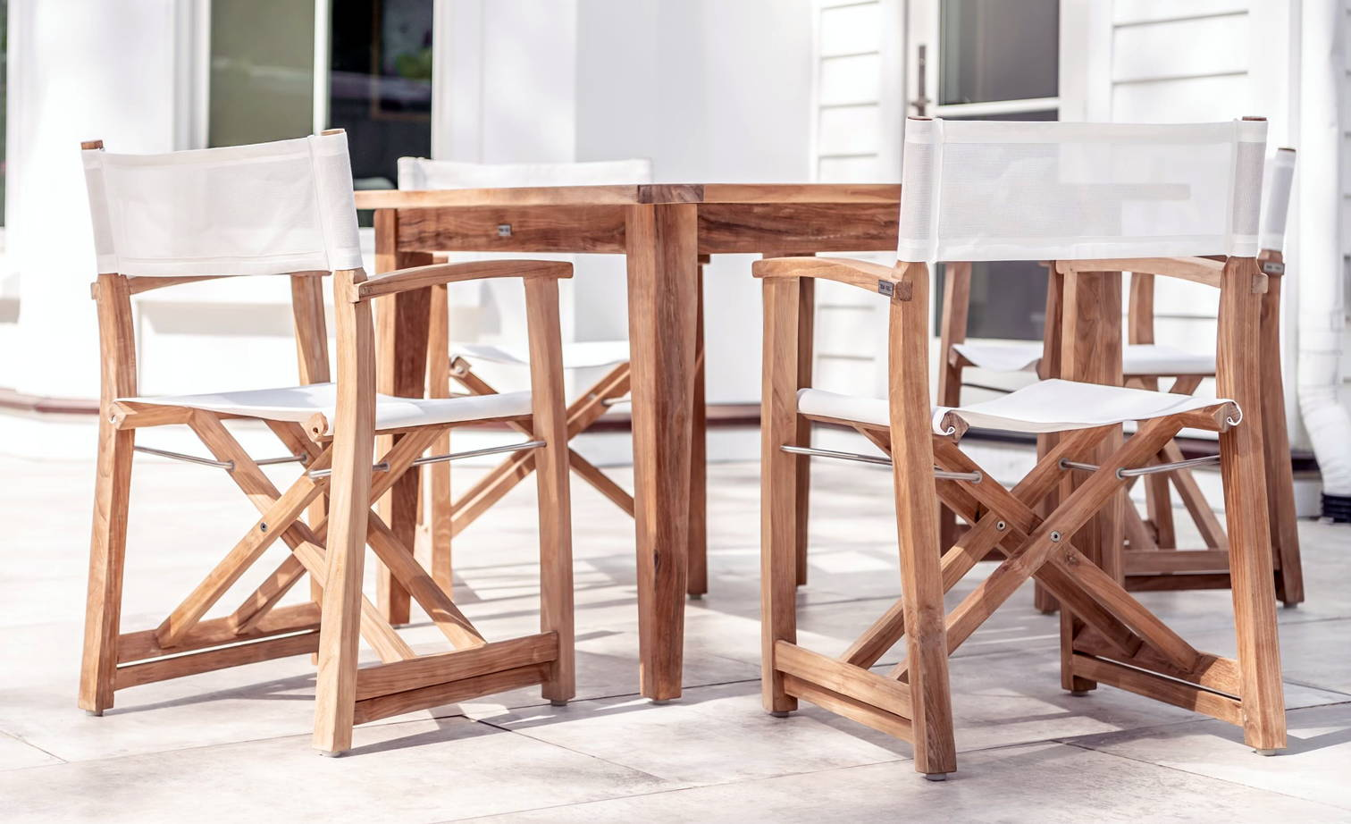 Teak and Table Director Chair