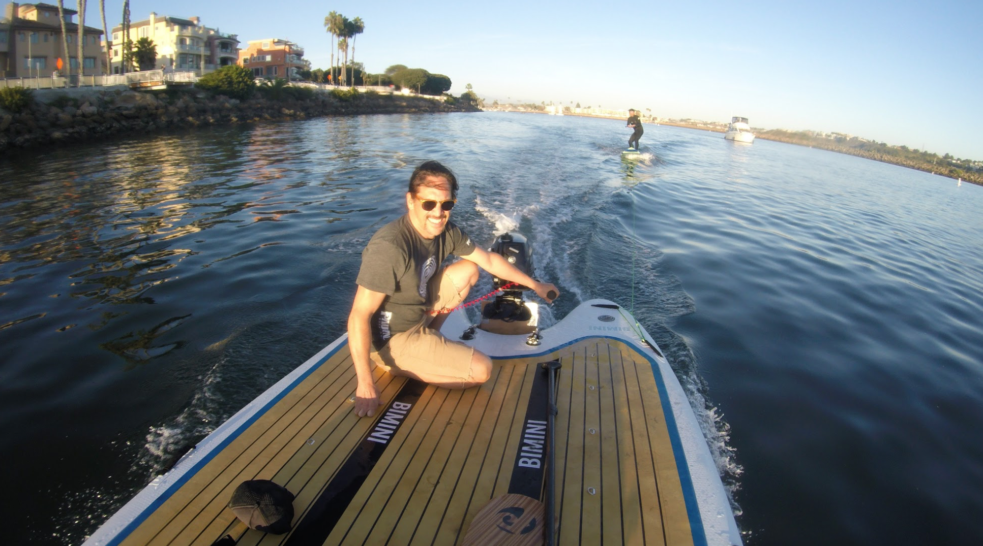 This is the best skiff board. Motorized sup board in California