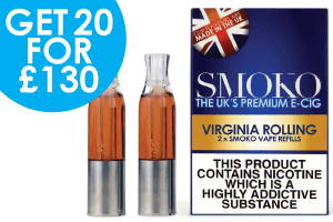 realistic virginia rolling flavoured vape refill deals