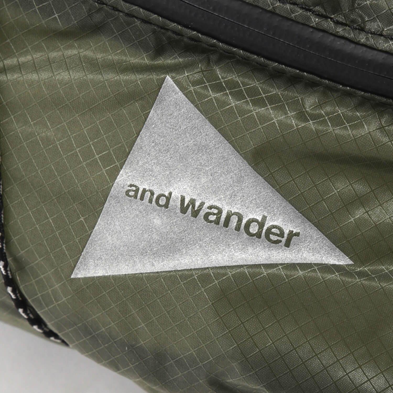 andwander(アンドワンダー)/シル ウエストバッグ/カーキ/UNISEX