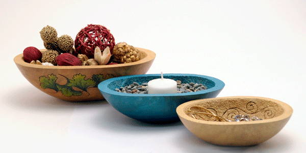 Use gourd dishes for gifts, votive holders, candy dishes and more!