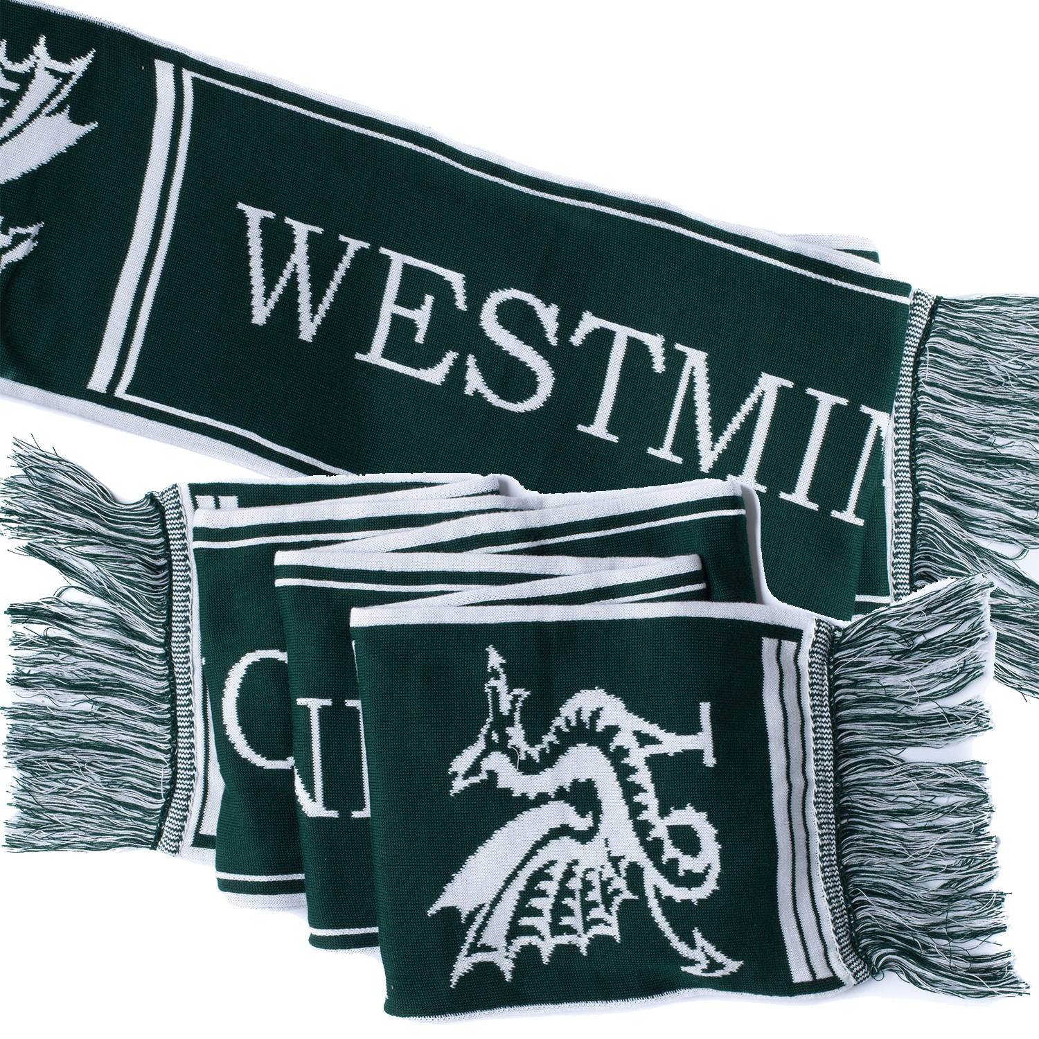 Oversized knitted scarf for Westminster School